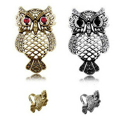 WOO Fashion Retro Openwork Ring Lady Lovely Owl Decoration Jewelry Accessories