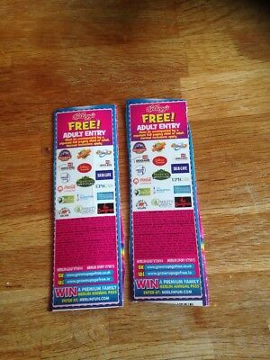 X2 KELLOGGS Free Adult Entry Alton Towers, Legoland, Thorpe Park, Sealife & More
