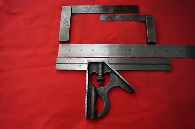 Engineering Tools 2: Moore & Wright Combination Square A/F + 2 steel set squares
