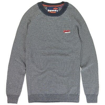 Tricot Coton Col Rond Mariner Pull Orange Superdry Étiquette ZRPPq