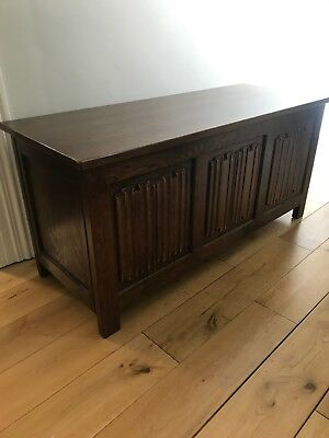 Small Antique Oak Chest - Oak Linen Chest - Linen Press - 19th Century - Excl.