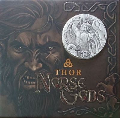 Tuvalu 2016 2$ Norse Gods - THOR God Of Thunder 2 Oz High Relief Silver Coin