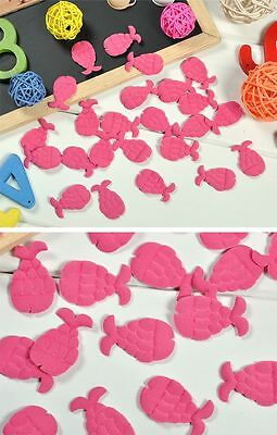 Woo 50PCS Spandex Padded Sewing Scrapbooking Craft Fish Appliques Bow Trim Craft