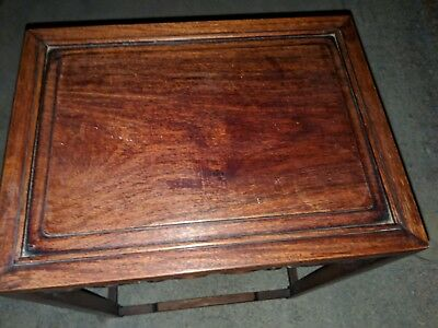 Antique Chinese Table! Gorgeous Rosewood Small Table! Possibly Huanghuali? Nice!