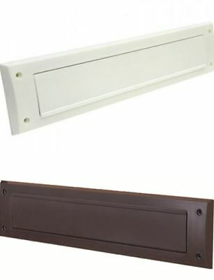 PVC Door Letter Box Plate Seal Flap Cover Brush Internal Draught Excluder