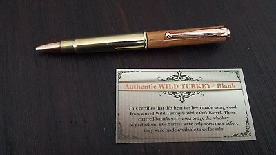 * NEW Wild Turkey 303 Bullet Pen made with Wild Turkey Barrel *
