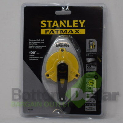 Stanley FATMAX Aluminum Chalk Line Reel With Chalk View Window