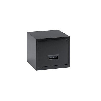 099001 Pierre Henry Filing Cabinet Steel Lockable 1 Drawer A4 Black