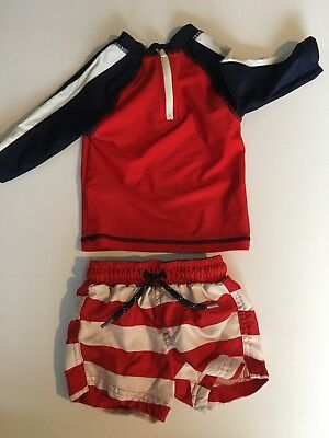 6-9 Month Boys Swim Shorts And Sun Protection Top