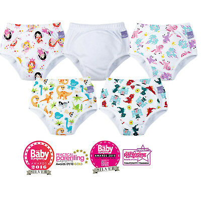 Potty Training Pants Baby & Toddler Reusable Washable Pull Up Cotton Nappy Pant