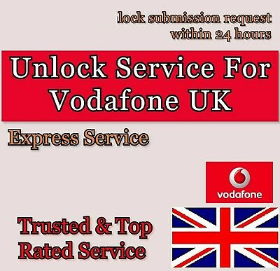Express Vodafone UK Factory Unlock 72 hours service for iPhone 4 4S 5 5S 5C 6