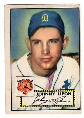 1952 Topps #89 Johnny Lipon - Detroit Tigers, Very Good - Excellent Condition