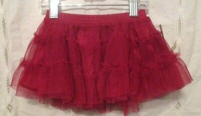 Arizona Baby Lined Red Tulle Skirt Size 3/6 Mos. NWT's