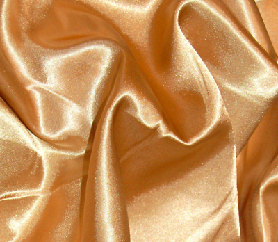 Quality Satin Fabric Gold Plain Dress Craft Wedding Material 150cm Wide
