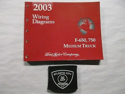2003 Ford F-650 F-750 Medium Truck Electrical Wiring Diagrams Service Manual