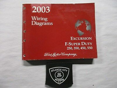 2003 ford excursion f-super duty 250 350 450 550 wiring diagrams service  manual