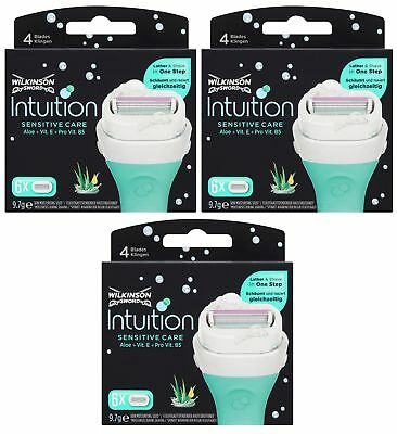 Wilkinson Sword Intuition Sensitive Razor Blades 3x6 Packs Womens Shave Genuine