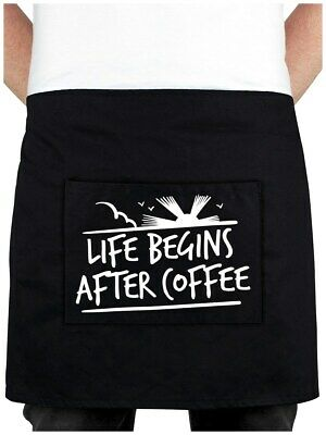 Barista Apron Coffee Life Begins After Coffee Black 78x40cm