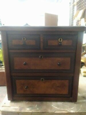Victorian Mahogany chest of Draws Apprentice Piece
