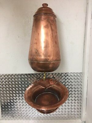 Vintage French Copper Lavabo Water Fountain Hand Made Hand Hammered Solid Copper