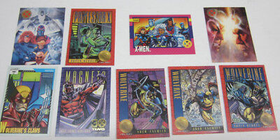 Rare X-Men , Wolverine, Magneto trading cards Lot of NINE