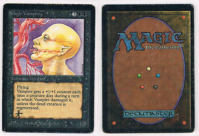 1 sengir vampire beta no Arabian Nights MtG Magic Rare old school 93/94 ink mark