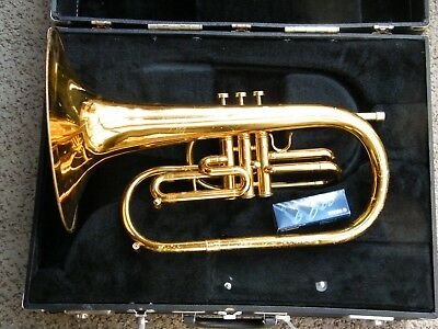 Conn Brass Marching Mellophone W/ Case and Yamaha 14F4 Mouthpiece