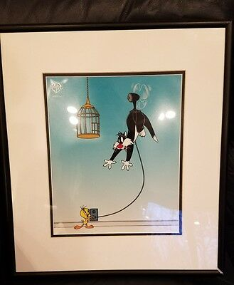 Sylvester Unplugged - Sericel - animation cel - warner brothers framed art