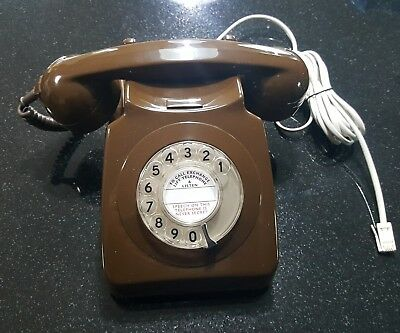 Dial Telephone 1970's GPO BT Two Tone Telephone BT Plug - Converted Working