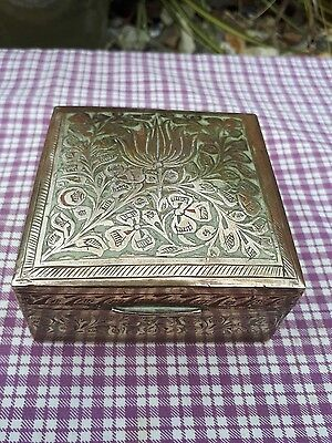 Indian Antique Hand Crafted Beautiful Enamel Brass  Box.