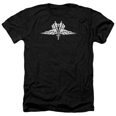 Starship Troopers Heather T-Shirt Mobile Infantry Badge Black Tee
