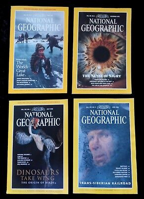 4 x National Geographic Magazines  1992 & 1998