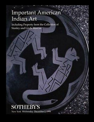Sotheby's  American Indian Art  Stanley and Linda Marcus, NY 12/2/98  -HJ 6