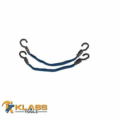 """20"""" Inch Heavy Duty Flat Bungee Cord / Tie Down  with Plastic Coded Hooks"""