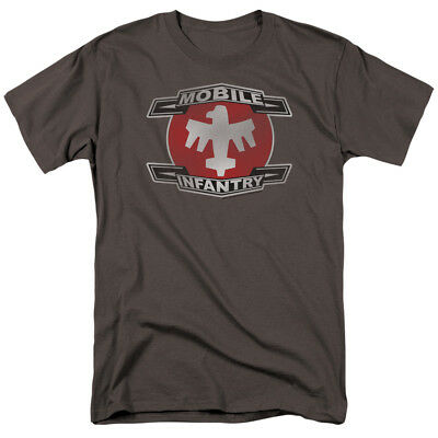 Starship Troopers T-Shirt Mobile Infantry Logo Charcoal Tee