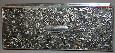 Godinger Ornate Floral Victorian Silverplated Jewelry Box
