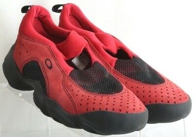 Oakley Red Suede Flesh Perforated Breathable Athletic Sneaker's Men's US 8.5