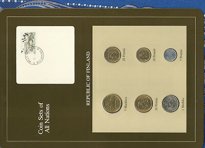 Coin Sets of All Nations Finland w/c 1980-1983 UNC 5 Markkaa 1982 20 Pennia 1980