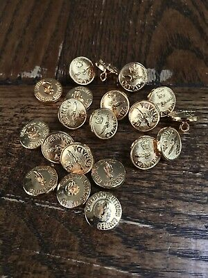 NEW Set of 20 Royal Canadian Air Force Military Buttons - Limited - Gold Plated
