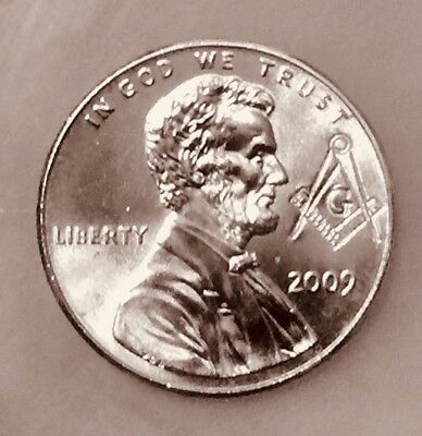 2009 D Lincoln Penny. UNCIRCULATED, Pre Masonic Stamped.