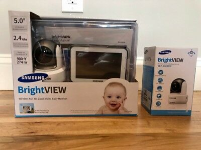 Samsung BrightView Wireless Baby Monitor BUNDLE - SEW-3043W with 2nd HD Cam NEW