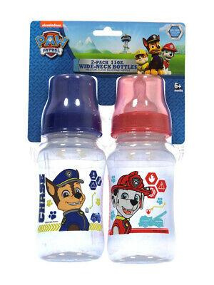 """Paw Patrol """"On the Chase"""" 2-Pack Wide-Neck Bottles (11 oz.)"""