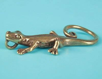 Unique Chinese Bronze Statue Pendant Animal Gecko Old Collection Gift
