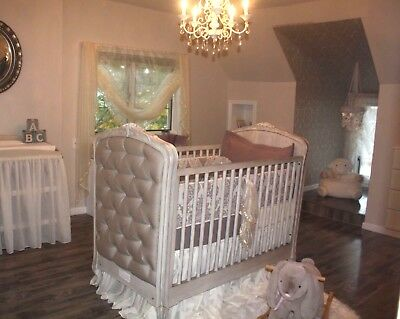 Convertible Tufted Crib / Toddler Bed from Restoration Hardware