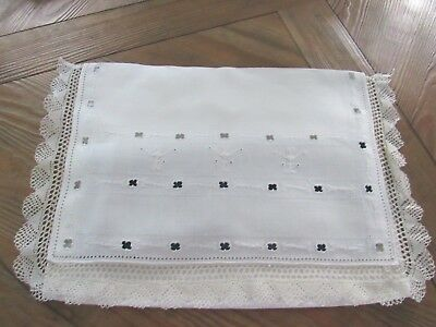 Vintage Italian Linen & Lace Edged Boudoir/Nightdress Cases