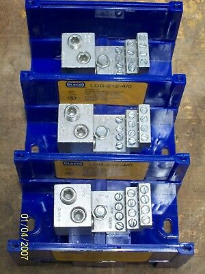 (3) Ilsco Snap Block Power Distribution  Blocks Snapbloc 460A 600V , Ldb-212-4/0