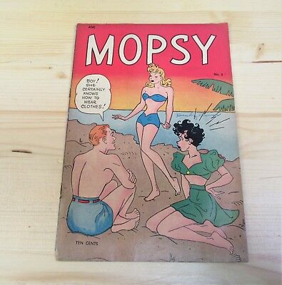Mopsy Volume 1 No 3 August 1948 Anc Comic By Gladys Parker Readable Condition