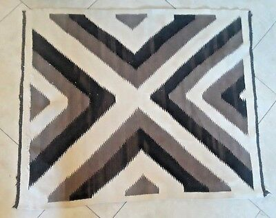 "Vintage Navajo rug, Eye Dazzler pattern, great colors.  37.5"" x 45"""
