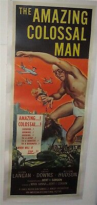 The Amazing Colossal Man  / 1957 / A.i.p.  /  Original Insert Poster