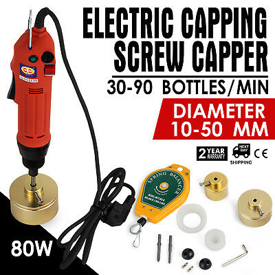 Handheld Electric Bottle Capping Machine 80w Up Great RELIABLE SELLER EXCELLENT